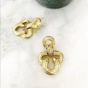 Vintage clover shaped earrings